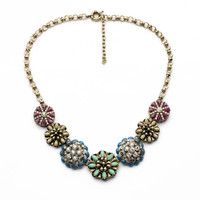 Mixed Color Flower Dot Necklace