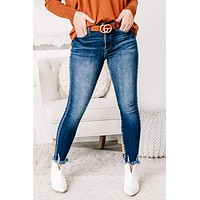 This Is The One Fray Hem Skinny Jeans