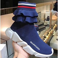 BALENCIAGA Speed stretch-knit high-top sneakers 5 colors-1