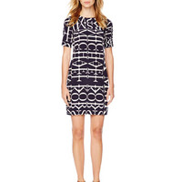 MICHAEL Michael Kors Logo-Letter Woven Dress