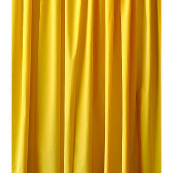 Bright Yellow Custom Standard Size Drapes Home Living Room Window Treatment Velvet Curtain Panel 48 inch Wide x 84 inch High