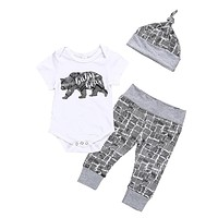 """Baby Bear"" Baby Boy Newborn Clothes 3-Piece Set"