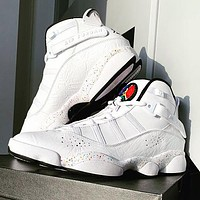 AIR JORDAN 6 Rings Fashion New Women Men Running Sneakers Shoes White