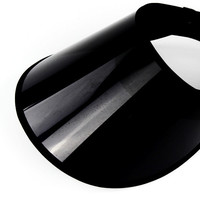 Fashion  UV protection clear plastic sun visor