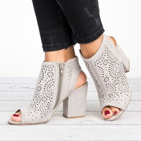 Laser Cut Open Booties