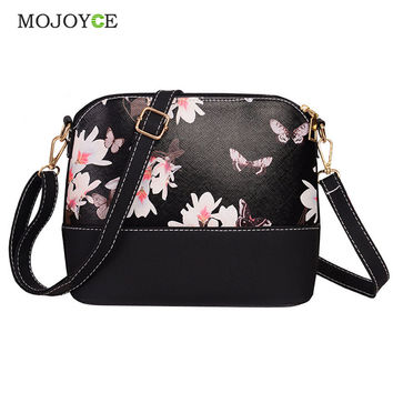 Women PU Leather Floral Print Handbag Fashion Shoulder Satchel Messenger Bags Clutch Small Travel Crossbody Bag Bolsa Feminina SN9