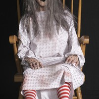 Rocking Granny Animated Horror Scary Prop