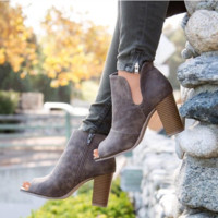 Cindy Heel Bootie- FINAL SALE