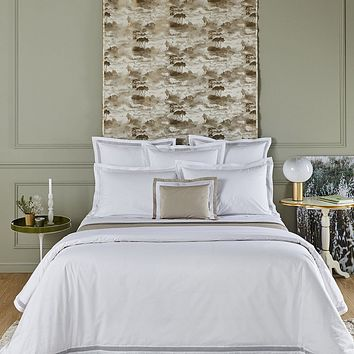 Oriane Blanc Bedding by Yves Delorme