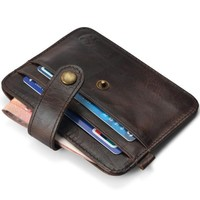 Brand Men Wallets cow Leather Genuine credit card wallet holder cowhide solid slim small money bag