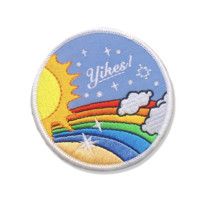 Yikes! Rainbow Iron-On Patch