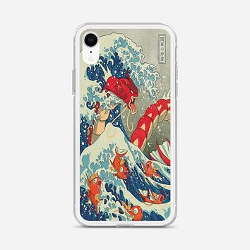 The Great Wave Of Kanto Pokemon iPhone XR Case