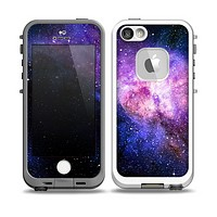The Vibrant Purple and Blue Nebula Skin for the iPhone 5-5s fre LifeProof Case