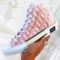 Wearwinds DIOR HIGH -TOP SNEAKER Sneakers transparent plastic skate shoes Women Men Shoes Orange