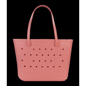 Simply Southern Large Solid Peach Beach Waterproof Washable Tote Bag