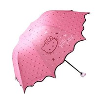 Hello Kitty Folding Sun Protection Umbrella Rain Women