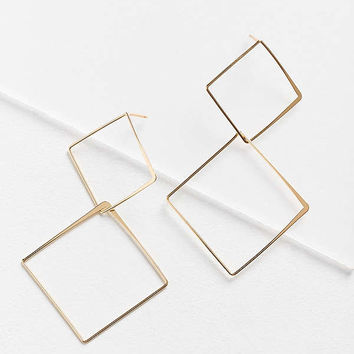 Stacked Shape Drop Earring | Urban Outfitters