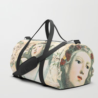 Flora - muse for Spring Duffle Bag by anipani