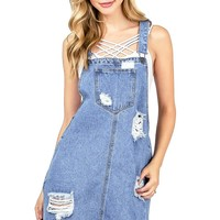 Retro Vibes Overall Dress