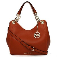 Michael Kors MK Leather Handbag Tote Shoulder Bag Satchel-1
