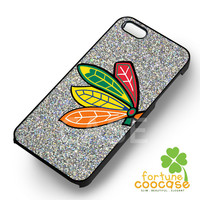 NHL Chicago Blackhawks Logo Glitter - z21z for  iPhone 4/4S/5/5S/5C/6/6+,Samsung S3/S4/S5/S6 Regular/S6 Edge,Samsung Note 3/4