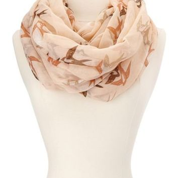 Love Birds Woven Infinity Scarf: Charlotte Russe