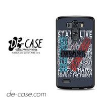 Twentyone Pilots Quotes For LG G3 Case Phone Case Gift Present YO