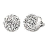 YAN & LEI Hot Sale 18k Gold Plated Shinning Cubic Zirconia Clip on Earrings for Women