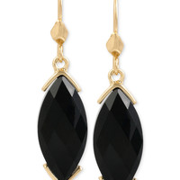 Kenneth Cole New York Gold-Tone Marquise Stone Drop Earrings