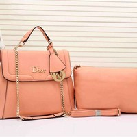 Dior Women Two piece Bag With Metal Chain Crossbody Satchel Shoulder Bag H-YJBD-2H Tagre™