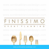 OOAK Premade Logo Design - Thin Letters - Perfect for an event planning business or a catering service