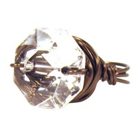Gloria Zsa Zsa Bling Ring Gun Metal