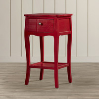 Beachcrest Home Waterfoot End Table