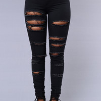 Slash and Burn Jeans - Grey