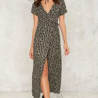 Floral to Ceiling Wrap Dress