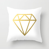 Geometric Diamond Throw Pillow @ www.paperInkPrints.etsy.com