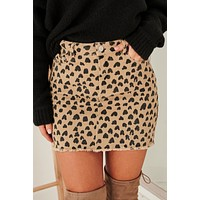 Confident Cutie Spotted Skirt (Stone)