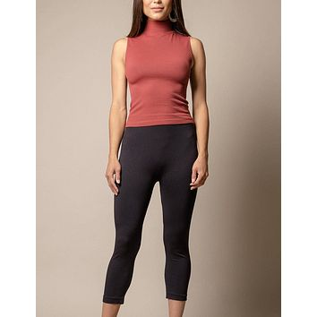 Control Fit Cropped Rib Tank - As-Is -Clearance
