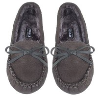 JJ Women's Casual Loafers Faux Suede Grey Moccasins 8.5 , M US