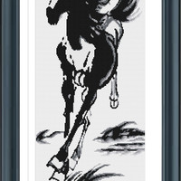Cross Stitch Horse Y610110, Cross Stitch Chart, PDF File, Cross Stitch Animal, DMC Cross Stitch, Needlepoint Pattern, Instant Download