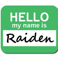 Raiden Hello My Name Is Mouse Pad