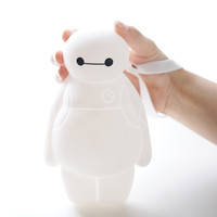 Free shipping Hot sell cartoon Baymax coin purse bags women Wallets white  silicone soft side zipper purse