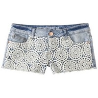 Mossimo Supply Co. Junior's Lace Front Denim Short