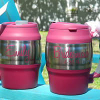 Bride and Bridesmaid Pair of Personalized Bubba Kegs, 20oz great for a personalized wedding shower gift or for bridal party gifts!