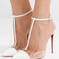 Christian Louboutin - Nosy 100 patent-leather and PVC T-bar pumps