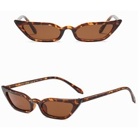Women Vintage Cat Eye Sunglasses Retro Small Frame UV400