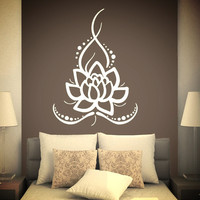 Removable Wall Mural Vinyl Stickers ~Yoga Lotus