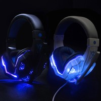 PS830 PS4 Headset Bass Gaming Headphones Game Earphones Casque with Mic Led Light for PS4 PC Mobile Phone New Xbox One Tablet