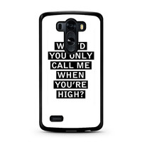 Personalised AM song lyrics LG G3 Case