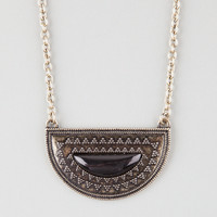 FULL TILT Jet Stone Crescent Necklace | Necklaces